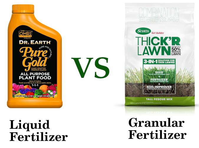 liquid fertilizer vs granular fertilizer